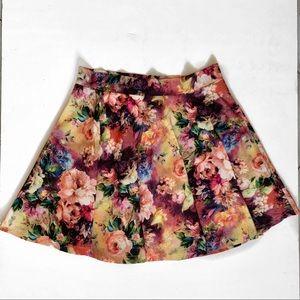 A Line Neon Flower Skirt